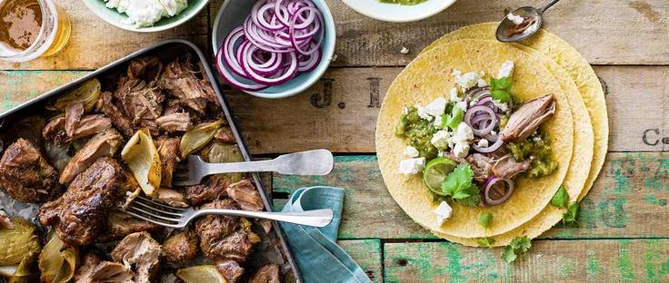 Carnitas are the next step up from tacos. Traditionally cooked slowly in fat, the meat is meltingly tender. This recipe for slow-cooked pork carnitas with tomatillo salsa is a lighter version. Buy tomatillos from mexgrocer.co.uk.