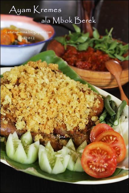 AYAM KREMES ALA MBOK BEREK #Indonesian recipes #Indonesian cuisine #Asian recipes http://indostyles.com/