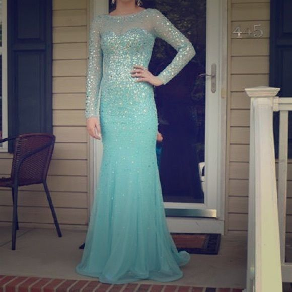 Disney prom dress Its a blue elsa dress with lots of sparkles and only worn once Dresses Prom