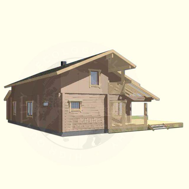 Модель двухэтажного дома H2-154 #Ikihirsi #деревянныйдом ikihirsirussia.ru. Построен на финском горнолыжном курорте.