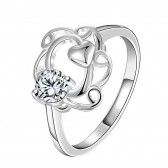 R046-C-8  Silver plated fashion ring for women jewelry accessories nickle free NHKL6279-C-8