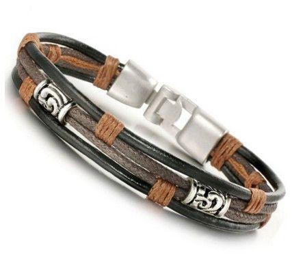 Rope Bracelet for Boys Jstyle Jewelry Men Leather Bracelets Cool