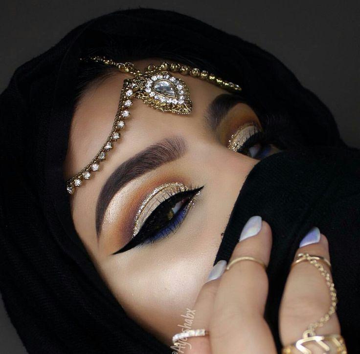 Макияж арабских глаз картинки