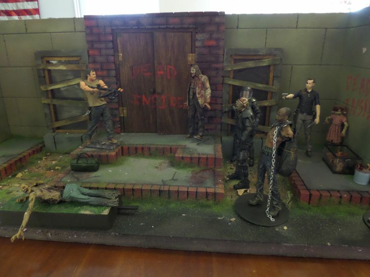 The Walking Dead Custom Diorama Daryl Dixon Zombies Comic ...
