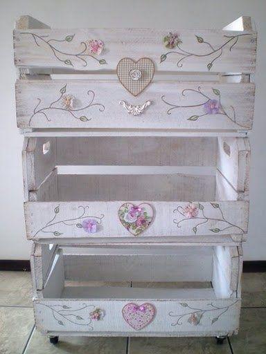 caja fresas mueble Ideas para reciclar cajas de fresas