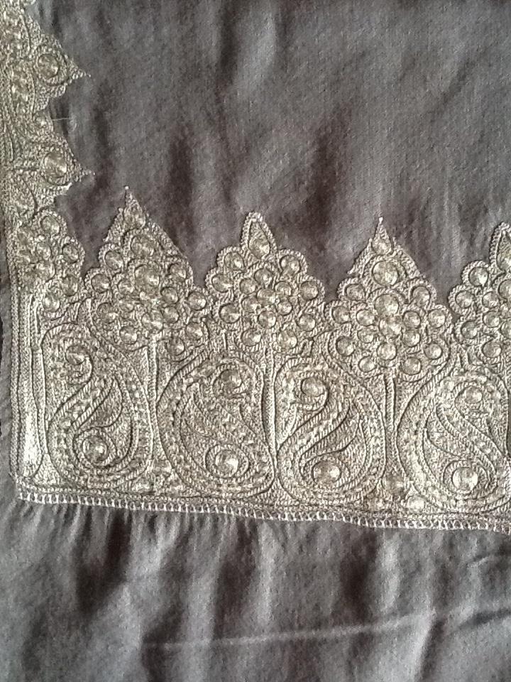 Pashmina shawl with marodi work