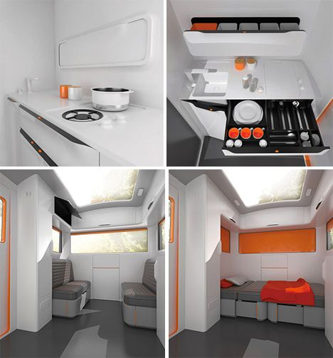 17 best images about rv innovations on pinterest table for Interior caravan designs