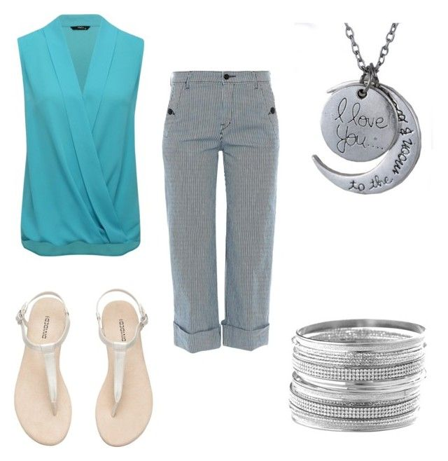 """""""Summer Teacher Outfit 2"""" by zoe-dam on Polyvore featuring M&Co, The Seafarer and Avenue"""
