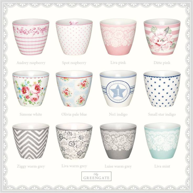 Which one of our new latte cups from the Spring/Summer Collection 2015 do you like the best? We love them all!   Check out the whole collection here: http://catalogue.greengate-imagebank.dk/SpringSummer2015/
