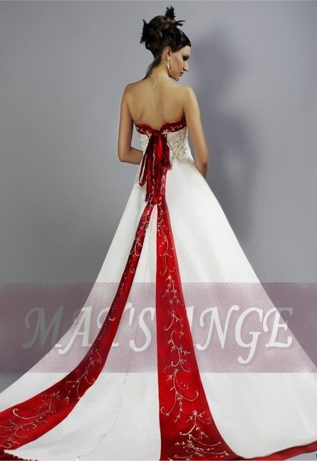 224 best Red/Red & White Wedding Dress images on Pinterest ...