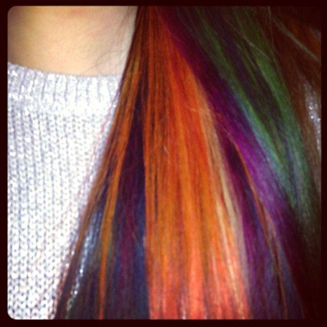 My multi-coloured hair