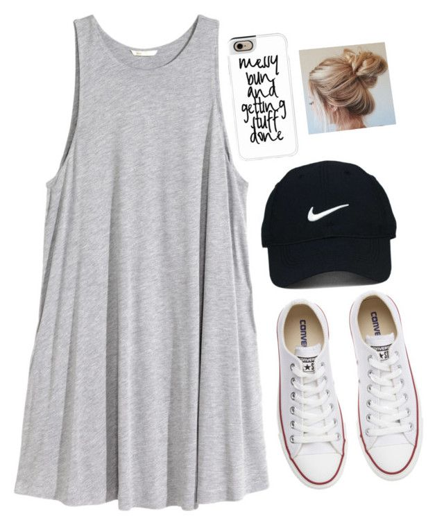I love this style! Just pair a basic flow dress with converse.
