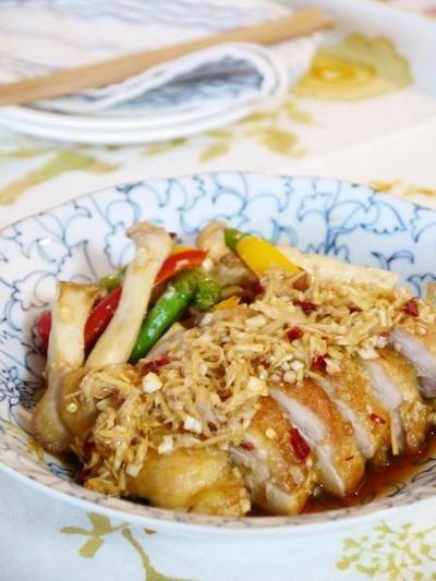 揚げない鶏と野菜の油淋鶏風南蛮漬け by Yoshikoさん | レシピブログ ...