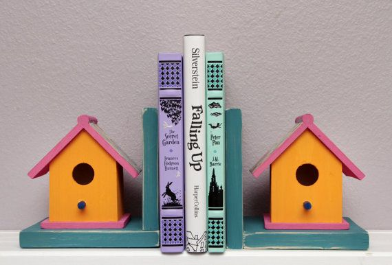 Bookends childrens bookends wood bookends teen by SeacatCreations