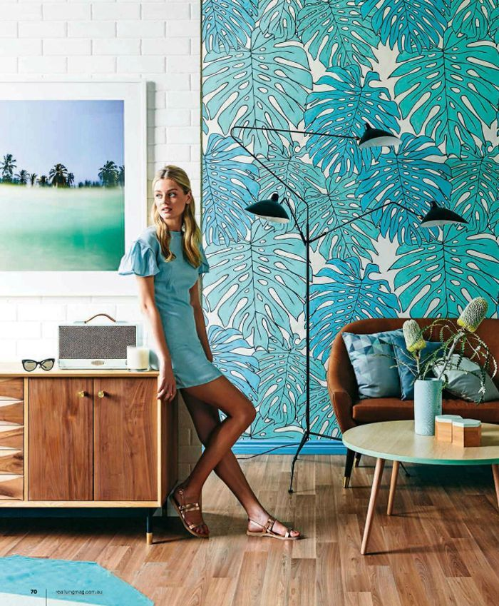 "Wallpaper! Photo Felix Forest | Love Supreme ""Life is Delicious"" wallpaper n Forest, $123.50 (AUS) a lineal metre, Emily Ziz Style Studio 