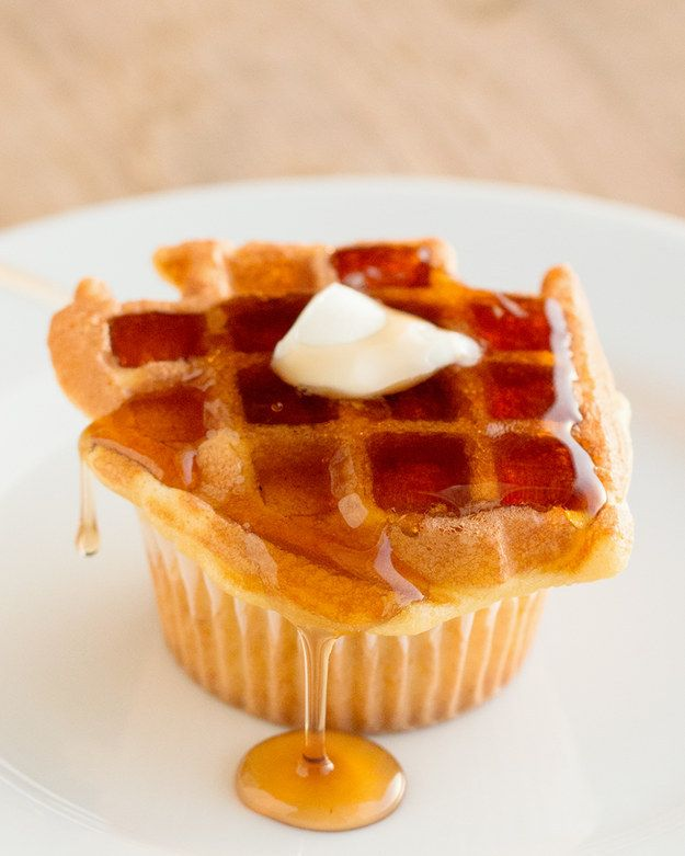Waffle Cupcakes | Here's What Waffle Cupcakes Look Like And They Are Just Heavenly