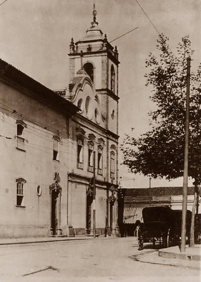 1903 - Largo de São Bento - A igreja original do Mosteiro de São Bento.