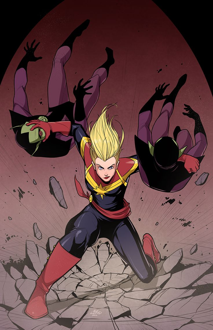 Captain Marvel by MichaelLeeLunsford.deviantart.com on @deviantART