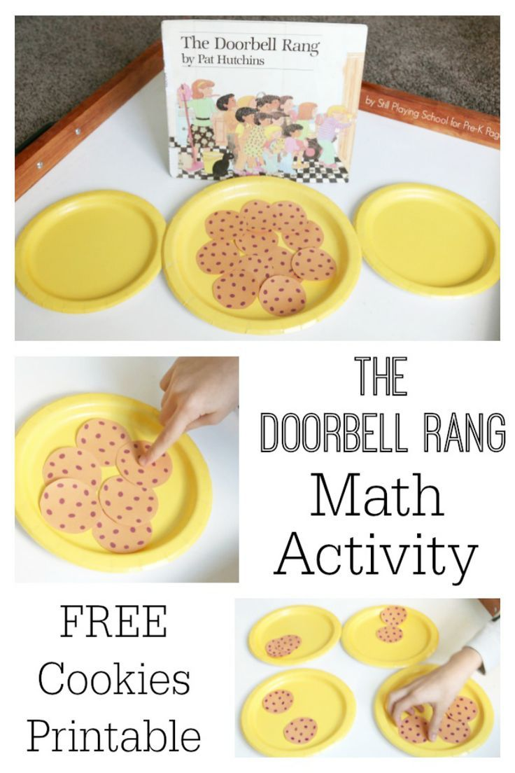Great math game follow up for the kids book The Doorbell Rang!