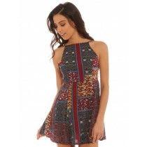Earthcore Dress in Print  (Glue)
