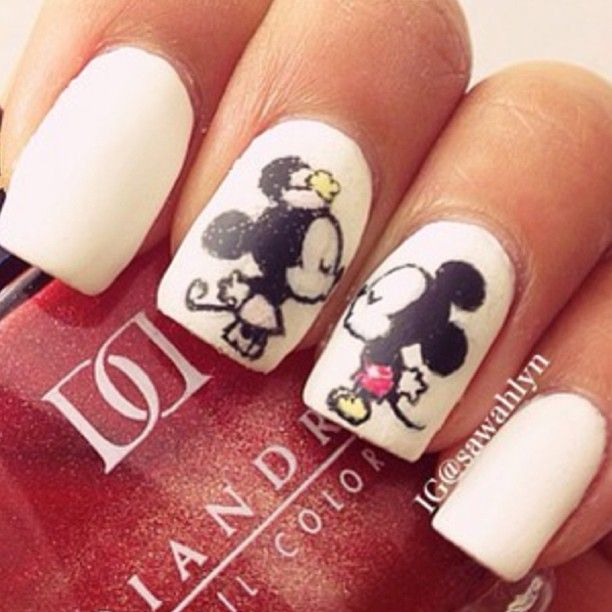 Adorable Disney #nails by @sawahlyn - learn how to create your own #nailart at bit.ly/1qU8Ht6
