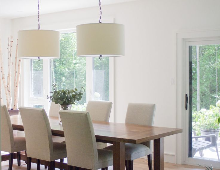 Dining room, white decor, white walls