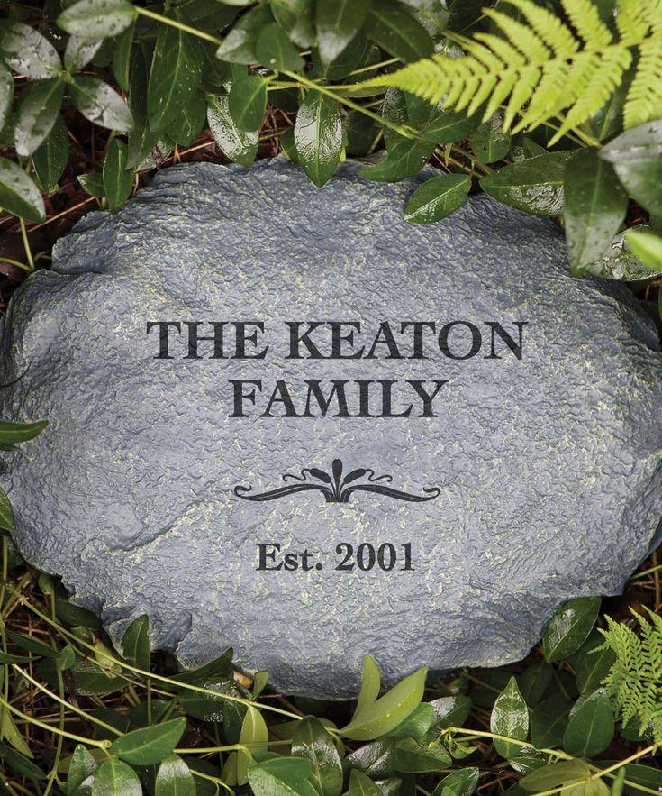 our family garden stone