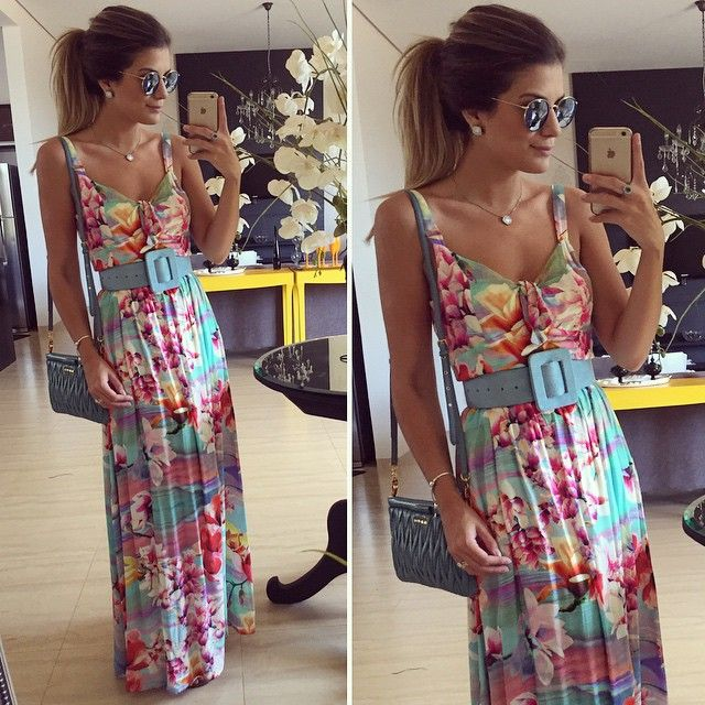 Women Dress Summer 2015 New Arrival European Casual Slim Geometric Pattern Printed O-neck Sleeveless Package Hip Long Dress