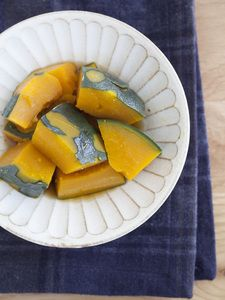 レンチンでかぼちゃの煮物