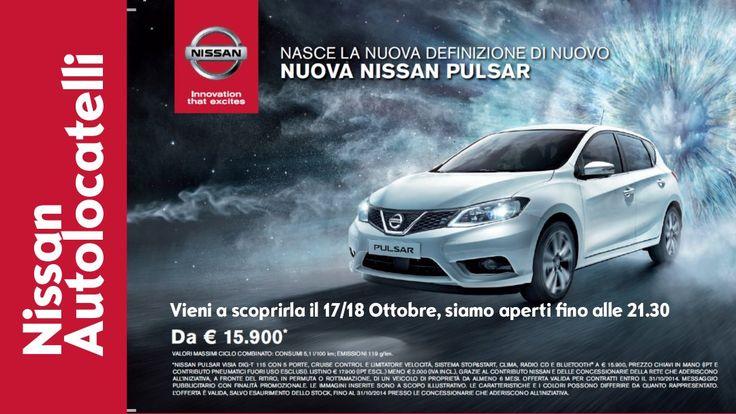 Scopri il Nuovo #NissanPulsar da #Autolocatelli #ConcessionarioNissan il 17/18 Ottobre fino alle 21.30