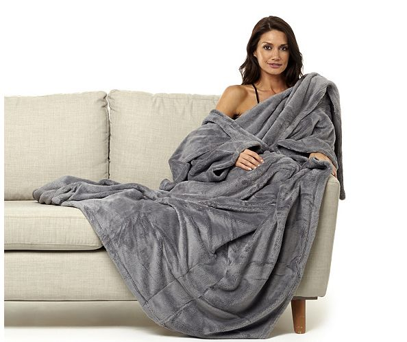 This thick wearable blanket. | 16 Warming Products For People Who Are Always Cold