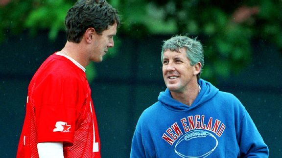 Drew Bledsoe and Pete Carroll