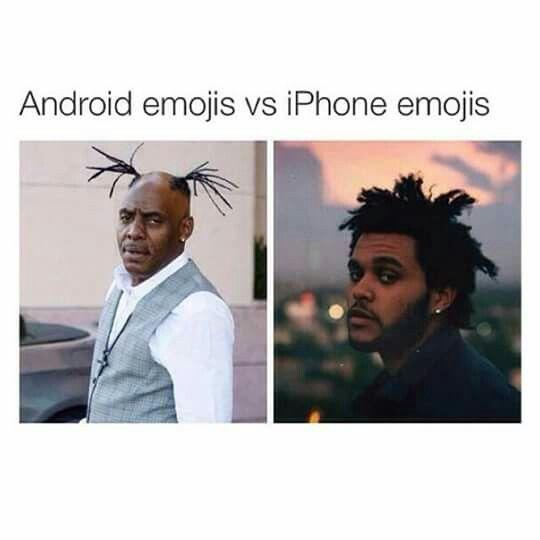 Android emojis vs IPhone emojis
