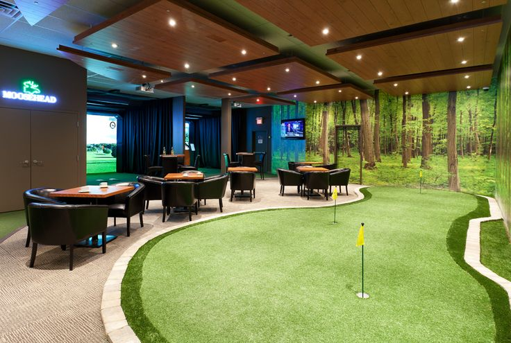 HD golf indoor gold lounge