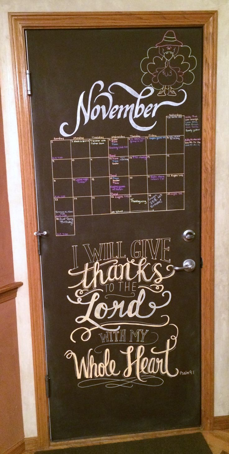 November 2014 Chalkboard Calendar