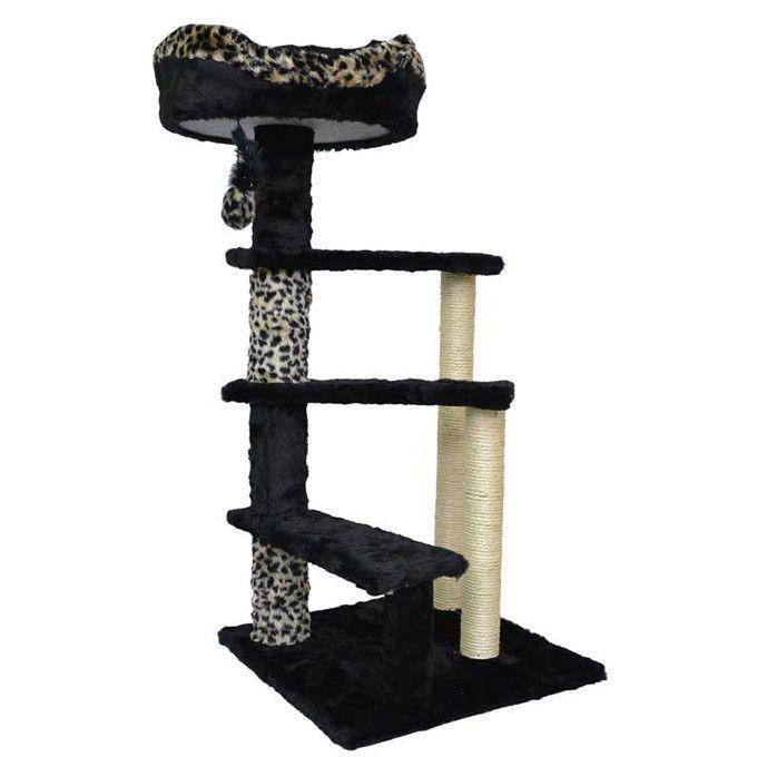 ###Descrição do Produto###    O Arranhador para Gatos Tower, é de excelente qualidade e encapado com pelúcia, sisal e um elástico com uma bolinha para uma melhor distração e divertimento do seu pet.    ###Dicas Pets na Moda###    Ideal para distrair, interagir, brincar, arranhar, combater o stres...
