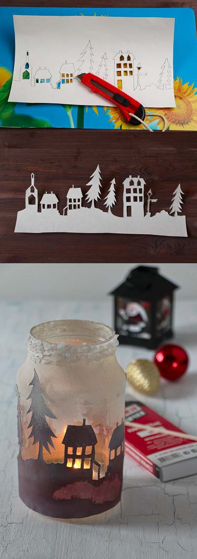 Jar for candle Банка для свечи - новогоднее украшение интерьера #christmas #decoration #jar #candle #new year