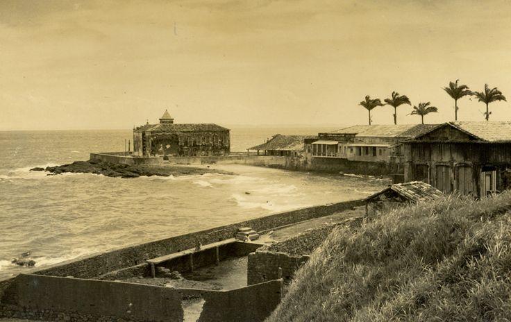 Ponta do Humaitá, na cidade baixa, em imagem antiga.