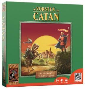 """Tweede uitbreiding van """"De Vorsten van Catan"""". Met de 3 themasets in deze uitbreiding zetten we onze zwerftocht door de geschiedenis van Catan voort. """"Een tijd van ontdekkers"""" speelt zich af tussen """"De grote vooruitgang"""" en """"Een tijd van barbaren"""". In deze themaset verkennen de bewoners van Catan het eilandenrijk binnen het bereik van hun nieuwe schepen.  http://www.planethappy.nl/999-games-catan-gouden-tijden.html"""