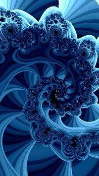 Kwiatowa niebieska falbanka w grafice