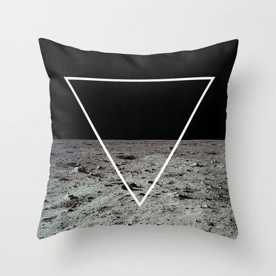 Moon Triangle Throw Pillow by Matěj Kašpar Jirásek - $20.00