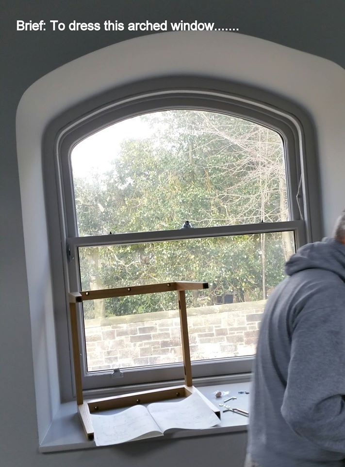 Before - the gently arched window