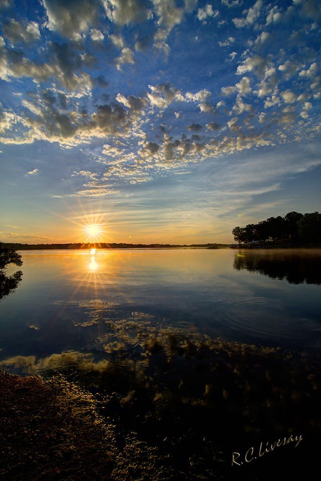 Sunrise, Grand Lake, Lake of the Cherokees, Grove, Oklahoma - RC Livesay