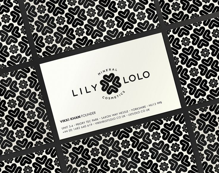 A logo is turned into a repeating background element on some nifty business cards.