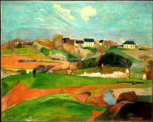 Paul Gauguin: Paul Gauge, Paul Gauguin, Art, Pouldu 1890, Le Pouldu, Doce Paul, National Galleries, Landscape, Painting