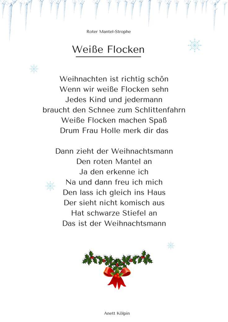 """""""Weiße Flocken"""" (3) - Weihnachtsgedicht & Lied - mp3 hören auf: www.kitakiste.jimdo.com"""