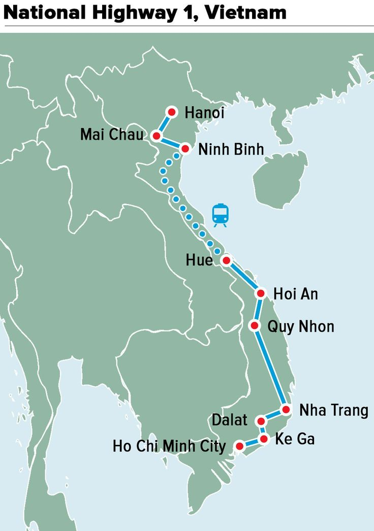 This iconic highway connects the two major Vietnamese cities of Hanoi and Ho Chi Minh City, and cycling it means you travel the length of the country. The journey is roughly 700 miles and takes approximately two to three weeks to complete. But it sure is worth it as you travel through rural villages and beautiful and lush foliage of the coastline.