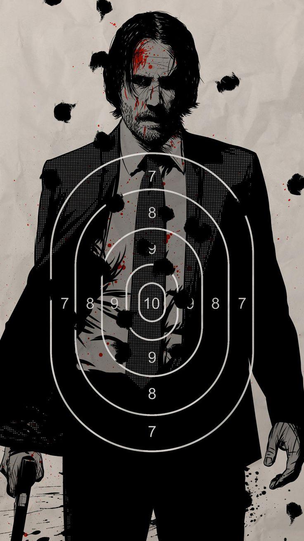John Wick Chapter 2 (2017) Phone Wallpaper Movie poster