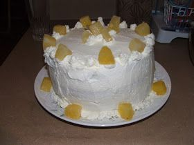 This is one of the most typical chilean cakes.  It's composed by a yellow soft cake, heavy whipped cream and pineapples as filling.  It's ...