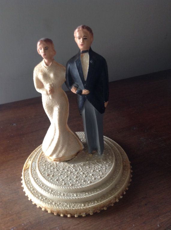 Vintage Wedding Cake Topper 1930 by Artemisia1913 on Etsy